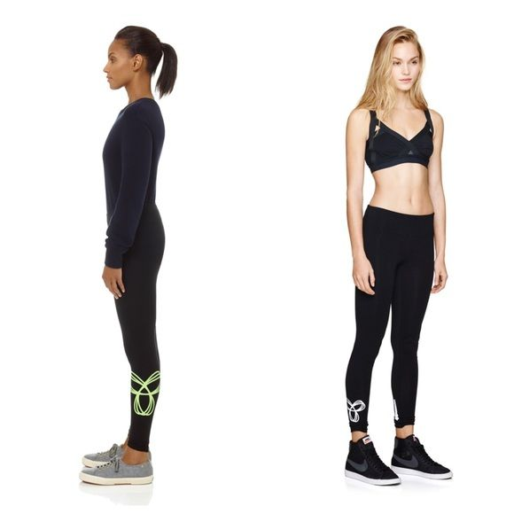 9e05392184f53b TNA Aritzia EQUATOR leggings black w/ neon yellow TNA's best fit leggings,  makes for a cute gym outfit or just out and about. I have at least 10 pairs  of ...