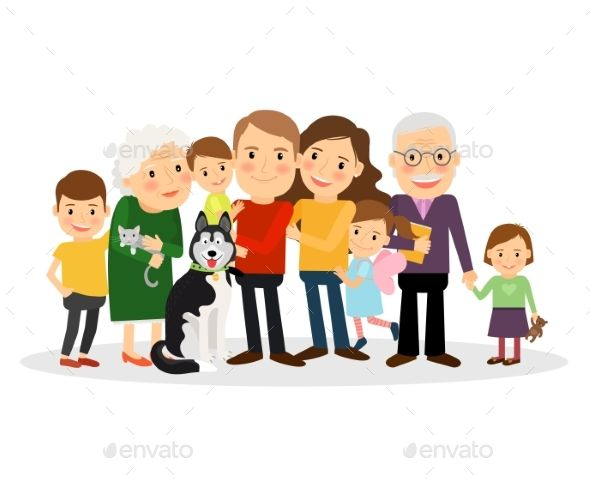 Cartoon Family Portrait With Images Family Picture Cartoon