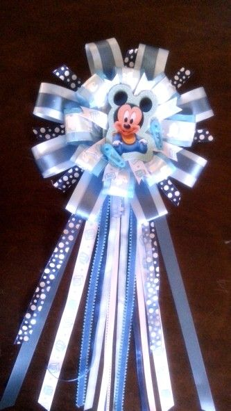 Mickey Mouse Baby Shower Corsage Mickey Mouse Baby Shower Baby