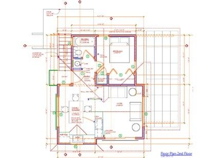 Adu Over Garage Boone Low Plan Section Sketch Diagram