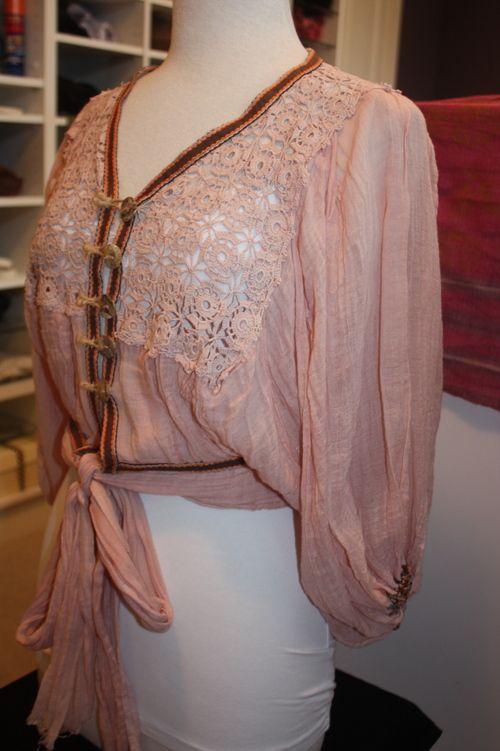 Sestra Moja Antique Lace Cropped BOHO Top - $57.00