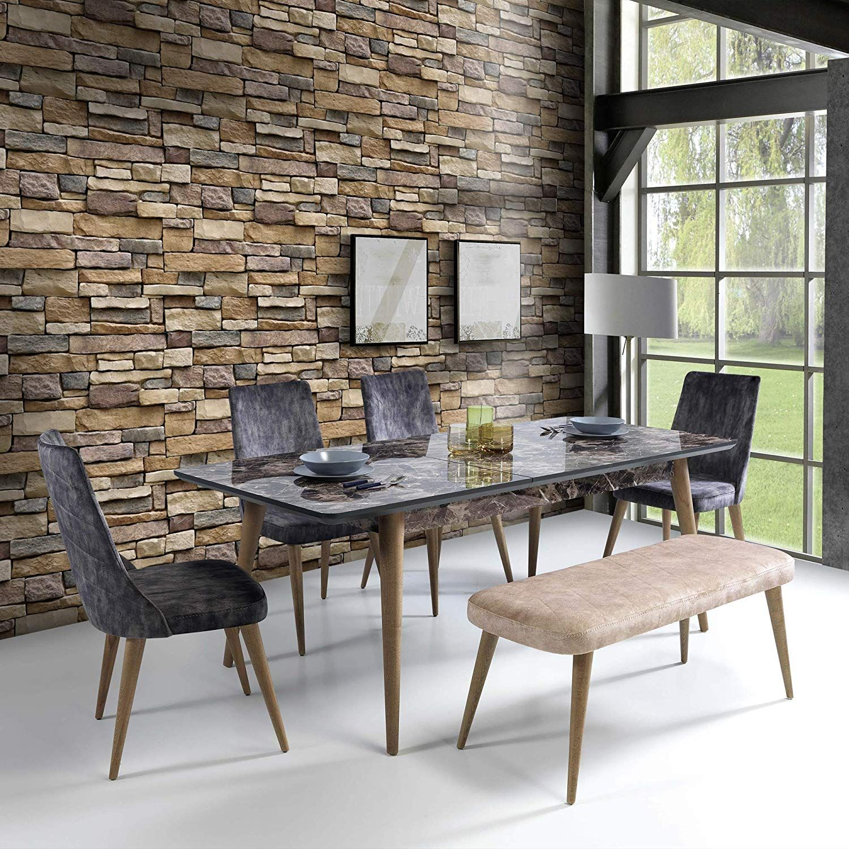 Stone Peel And Stick Wallpaper Self Adhesive Wallpaper Easily Removable Wallpaper Brick Peel And St Faux Stone Walls Faux Brick Wallpaper Brick Wallpaper