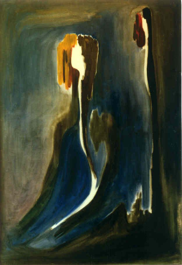 Petros Devolis #oil #painting - Crafted in #1972 in Serres during the period of his military service (prv. collection) Title: Prayer