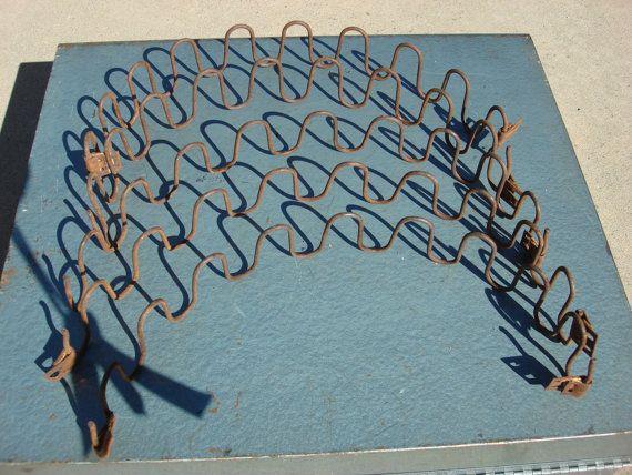 Vintage Zig Zag Upholstery Springs Set Of 2 Metal Chair Upholstery Spring Metal Chairs Art Chair