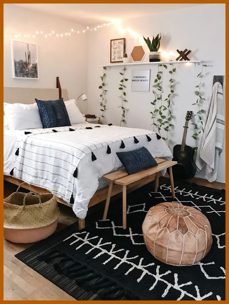 85 Rustic Boho Bedroom Decor Ideas For Small Room Or Apartment You Are Looking For Bedroom Homed Cheap Bedroom Makeover Aesthetic Room Decor Bedroom Vintage
