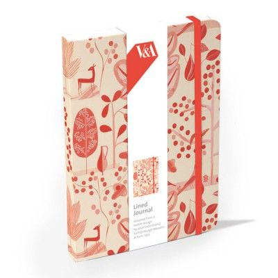 V Museum Lined Notebook - Red Garden - Floral Notebooks - Notebooks - Notebooks & Journals   Free UK delivery on all orders over £10