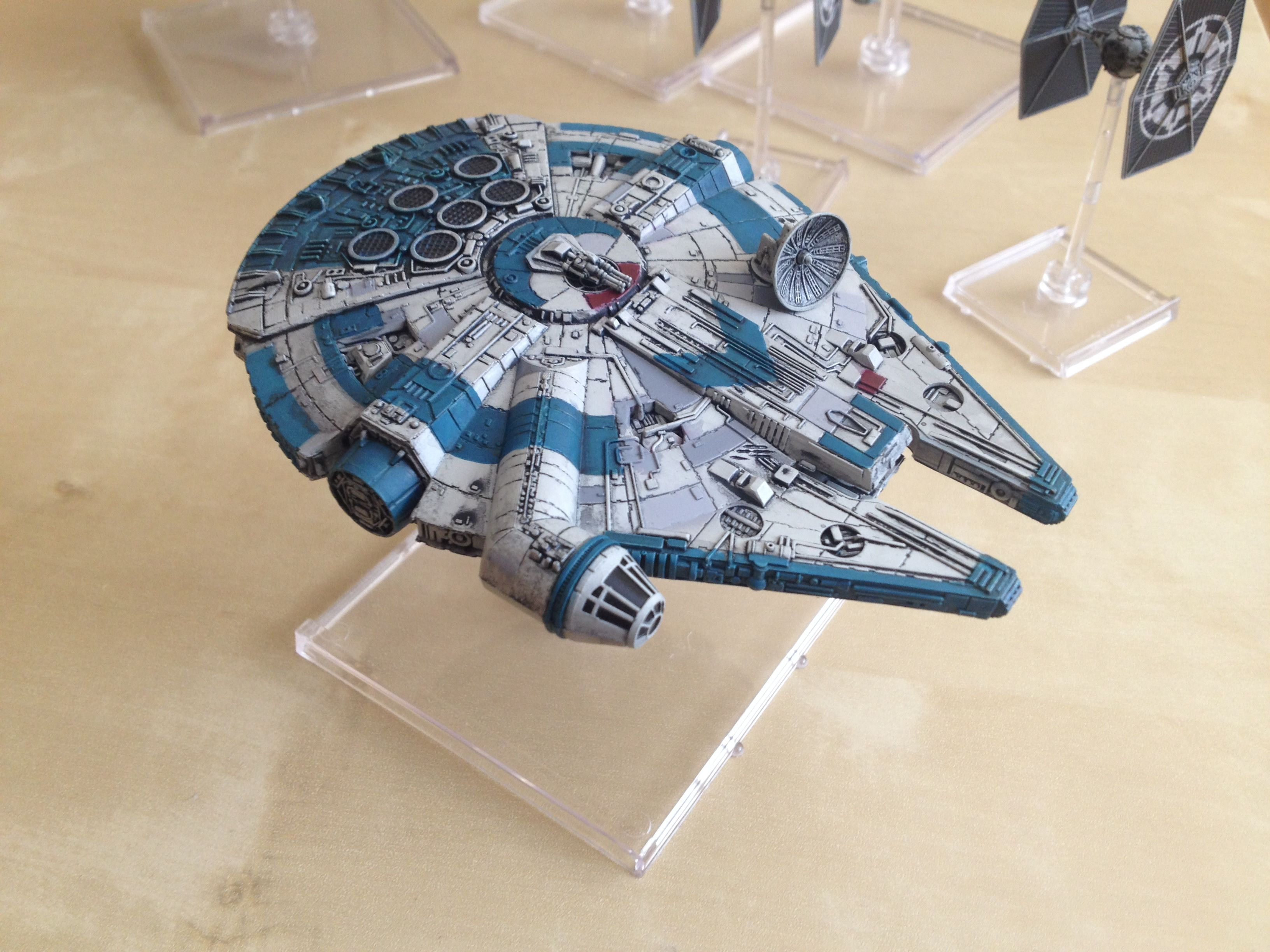 X Wing Miniatures Game Yt 1300 Repaint Star Wars Painting Star Wars Spaceships Star Wars Origami