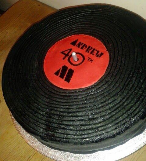 40th Birthday Record Cake