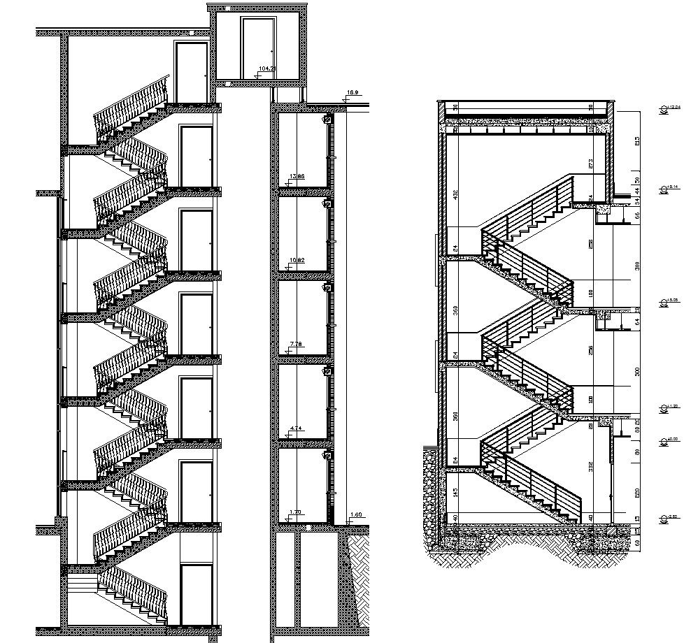 Best Free Rc Stair Details Stair Detail Autocad Stairs 400 x 300
