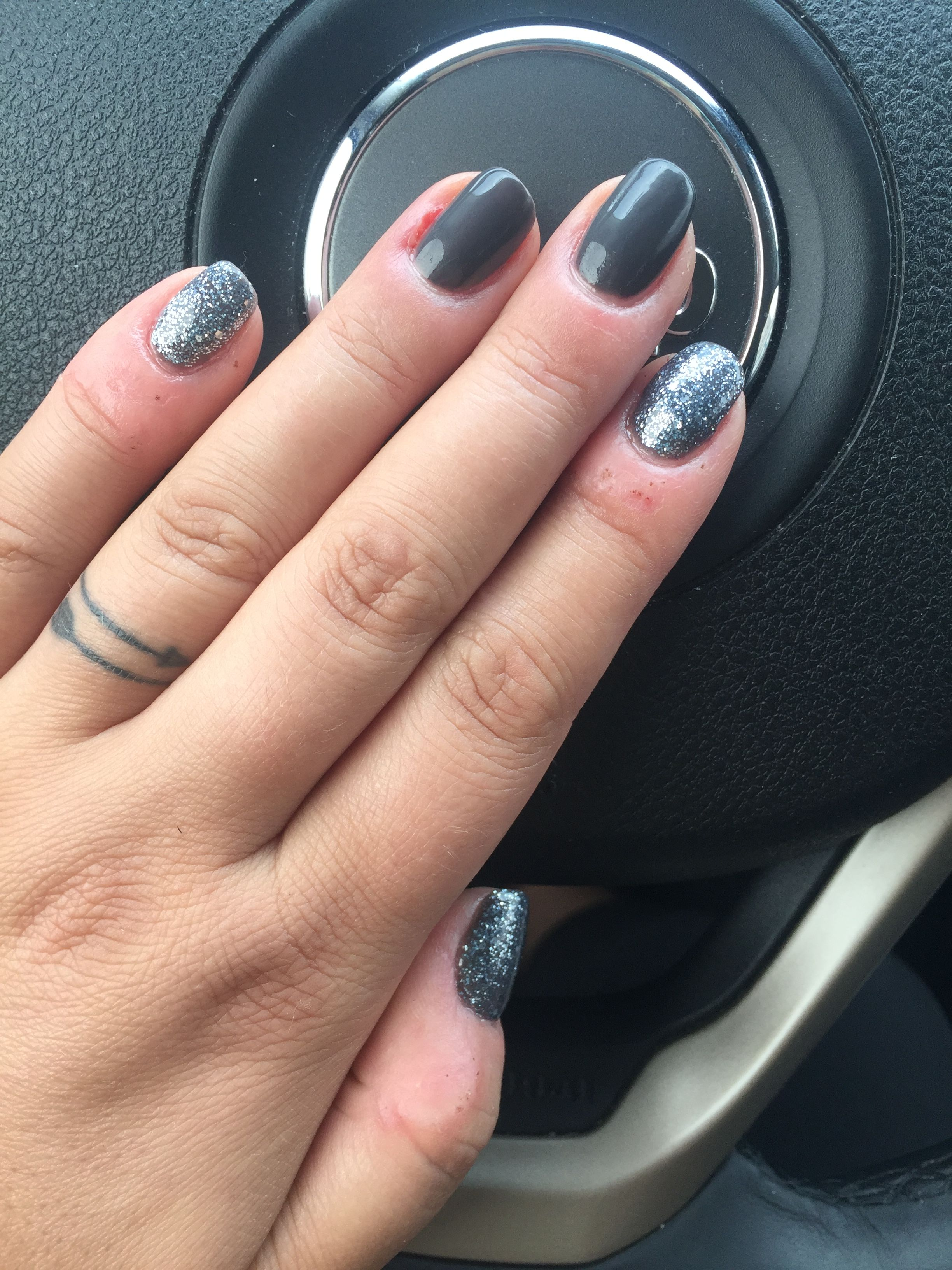 DND Deep Mystery and DND Black Diamond Star gel polishes for fall ...