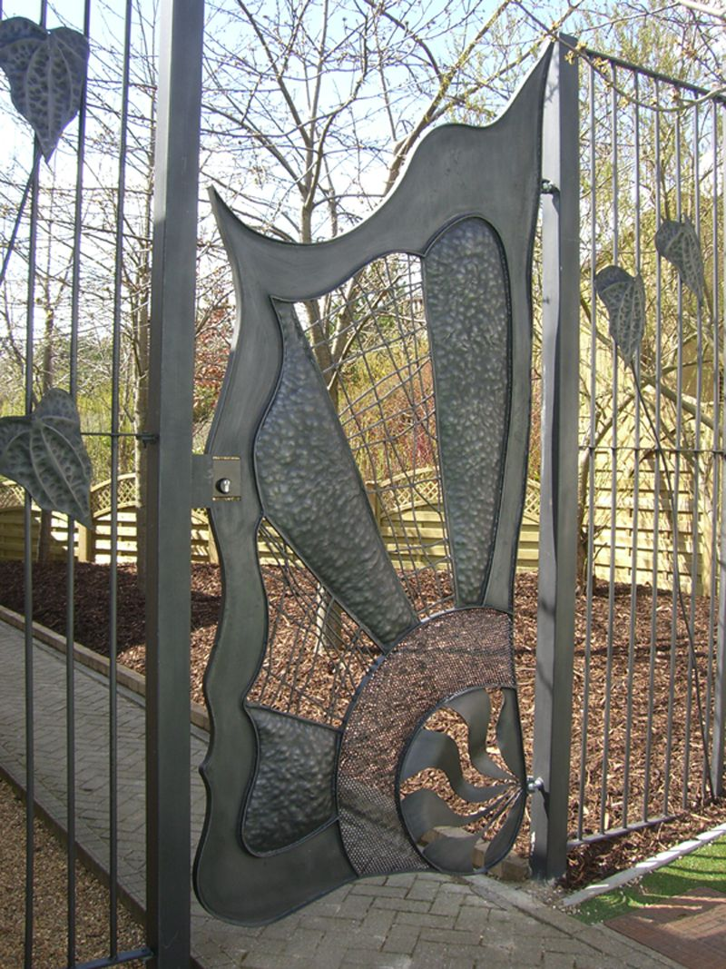 Pin antique garden gates in wrought iron an art nouveau style on - Find This Pin And More On Indestructable Iron