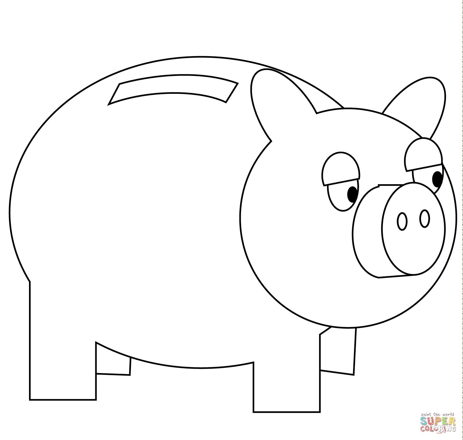Piggy Bank Coloring Pages Gallery Coloring Pages Coloring For Kids Print Buttons