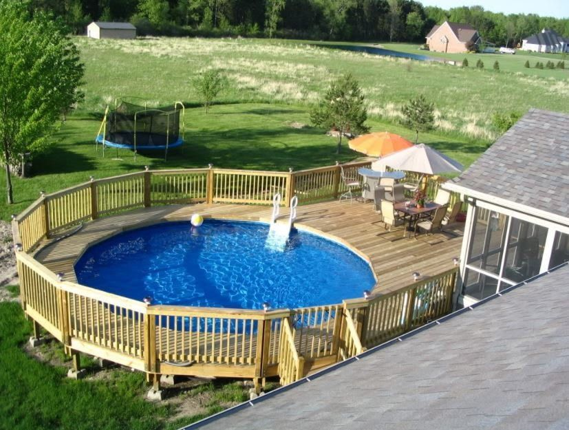 11 Most Popular Above Ground Pools With Decks Awesome Pictures Decks Around Pools Pool Deck Plans Swimming Pool Decks
