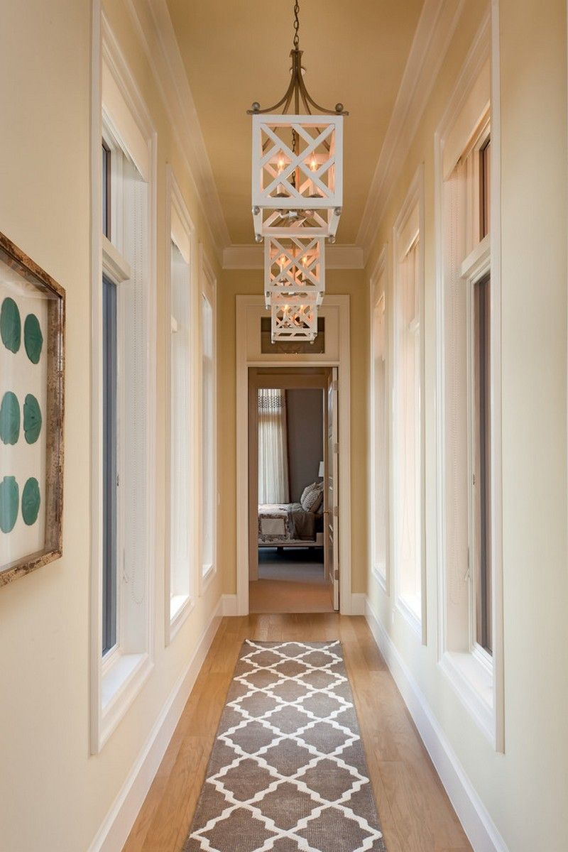 Fascinating Corridor With Long Decorative Rug On Wooden