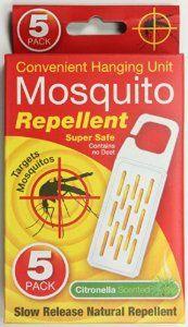 Mosquito Repellent - Convenient Hanging Unit Pack Of 5 Citronella Scent