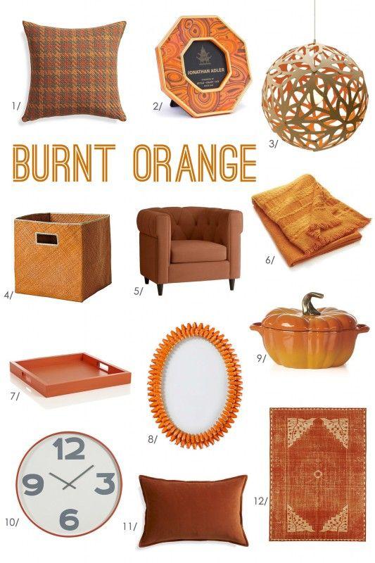 Decorating Orange Decor Burnt Orange Orange Rooms