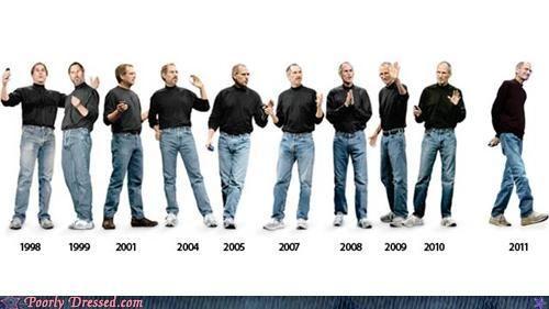 the fashion evolution of steve jobs :))