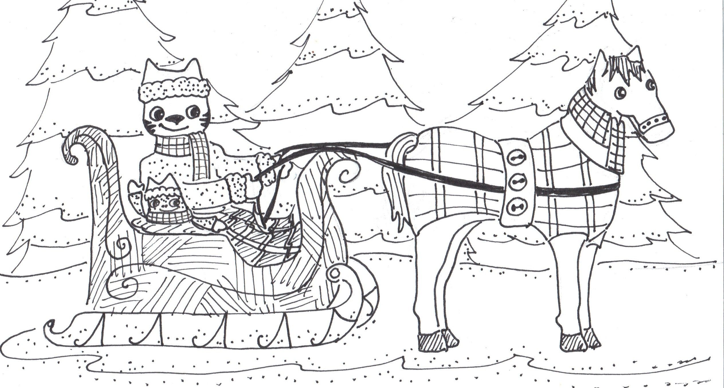 Por One Horse Open Sleigh Coloring Page Ou 19956 Unknown Resolutions Www Reevolveclothing