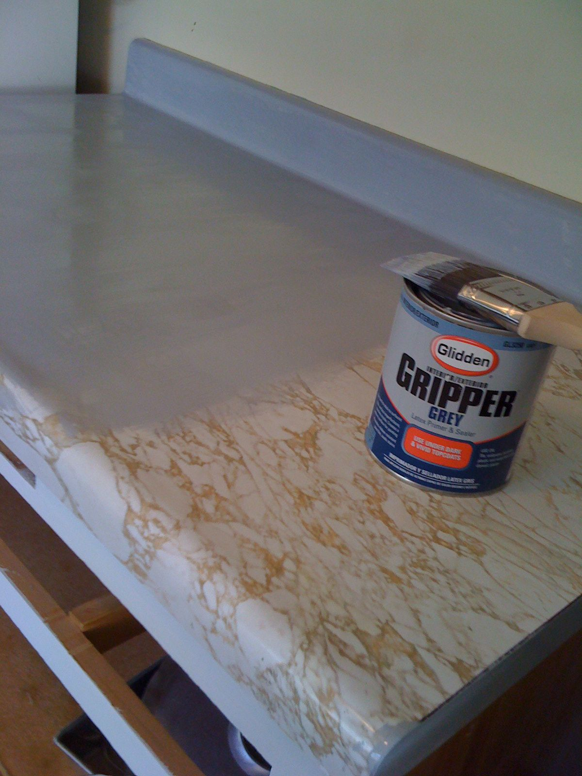 Before After Painting My Countertops