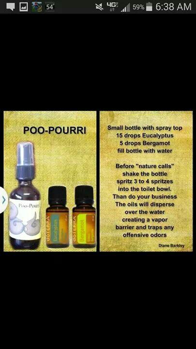 Poo-Pourri blend Poo Pourri Recipe, Poop Spray, Toilet Spray, Doterra Recipes