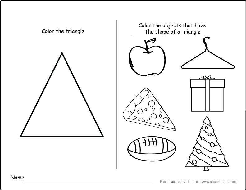 Triangle Shape Worksheets For Toddlers kindergarten readiness – Triangle Worksheets