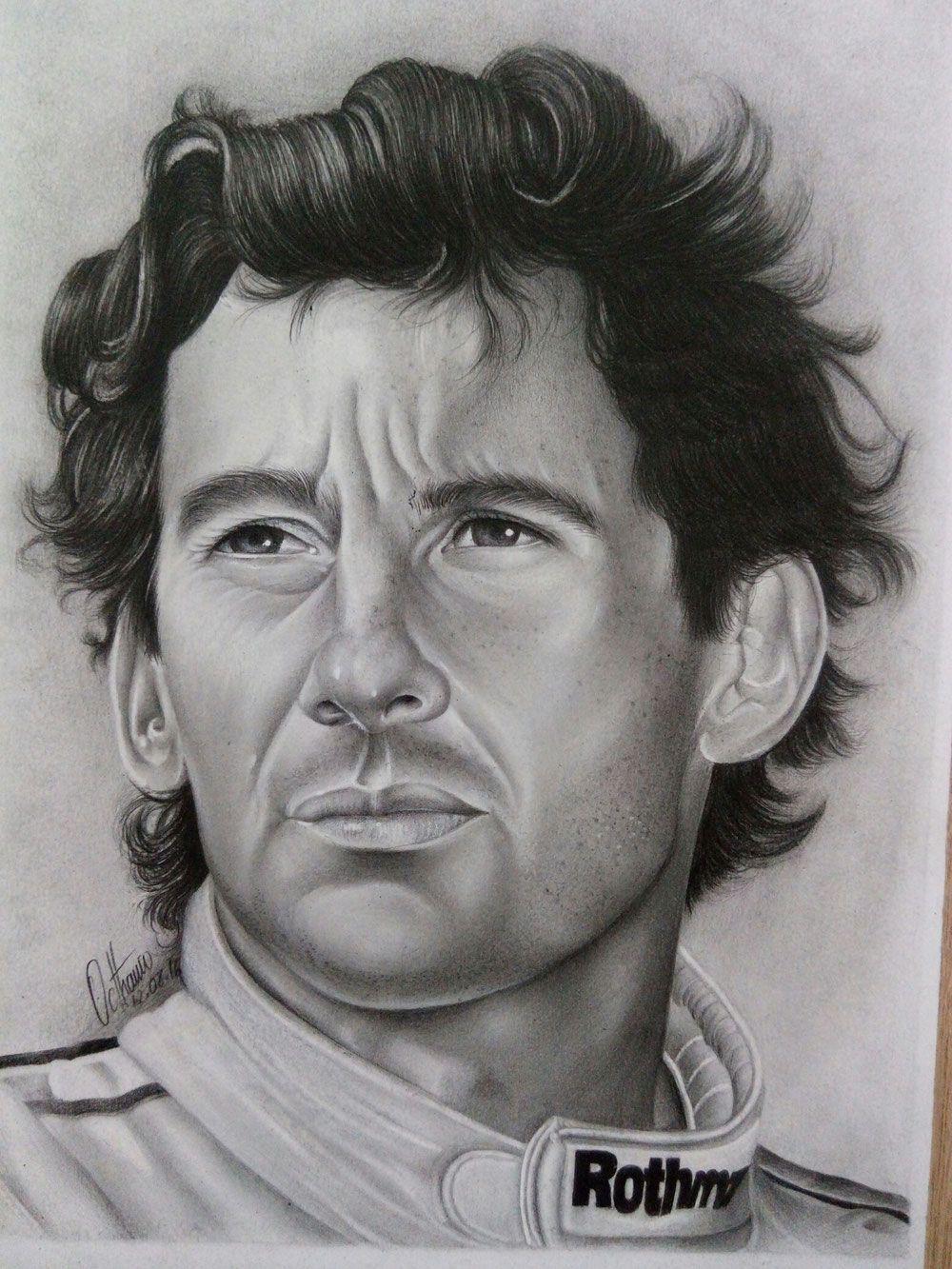 Desenho Realista Ayrton Senna Desenhos Realistas