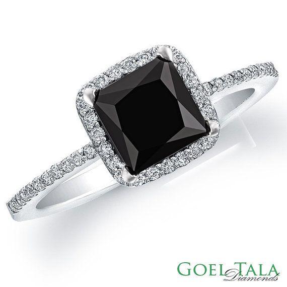 sooo pretttttttyyyyyyy  Diamond Engagement Ring 110 carat Black by GoelTalaDiamondsInc, $759.99