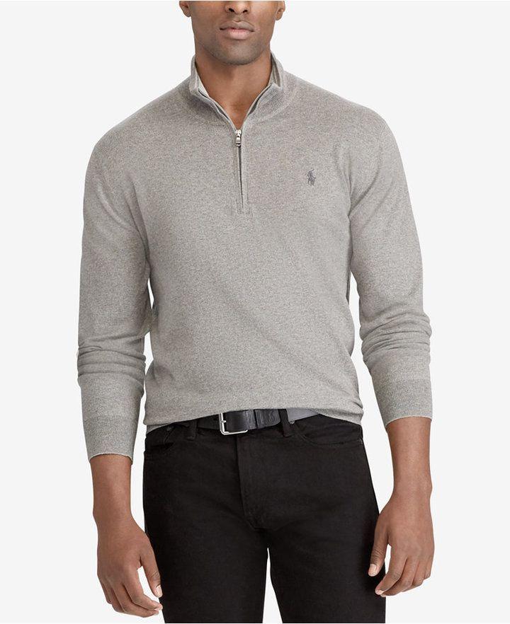 80228f2e8c0 Polo Ralph Lauren Men's Big & Tall Half-Zip Sweater | Products ...
