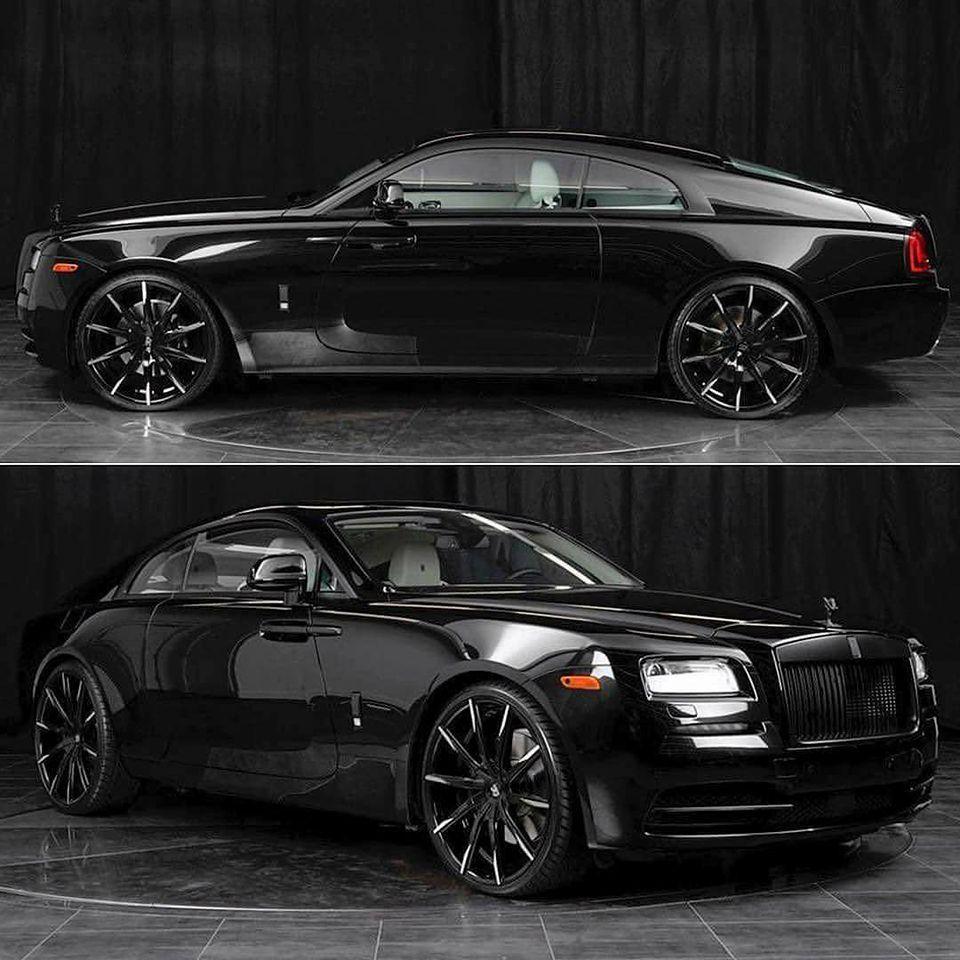 Onyx Black, White Interior Rolls-Royce Wraith, Ridin