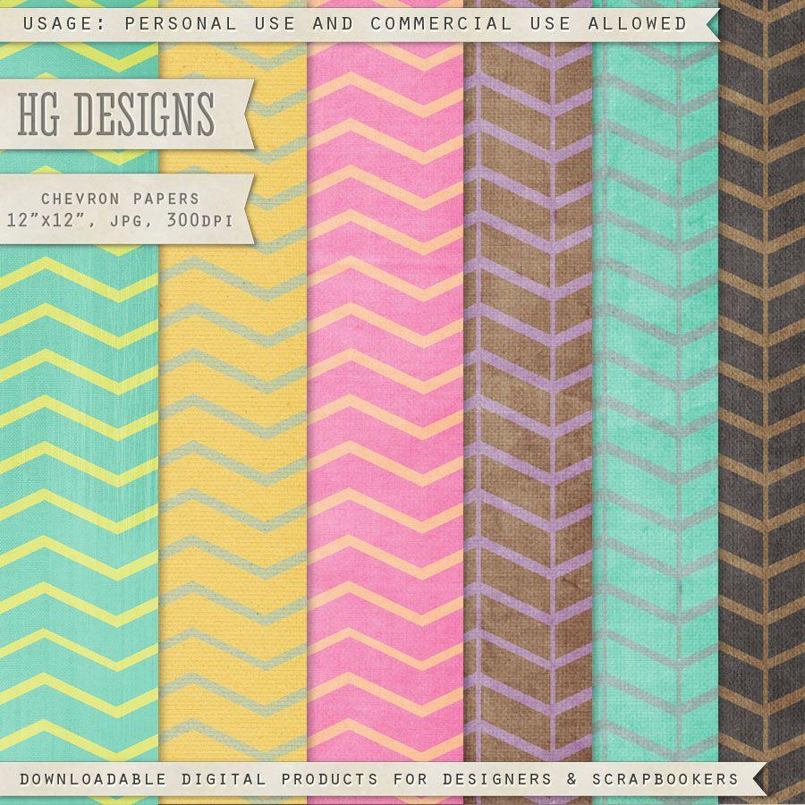 Scrapbooking TammyTags -- TT - Designer - HG Designs, TT - Item - Papers, TT - Pattern - Chevron