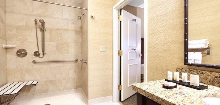Embassy Suites Savannah Hotel, GA - Accessible Bathroom