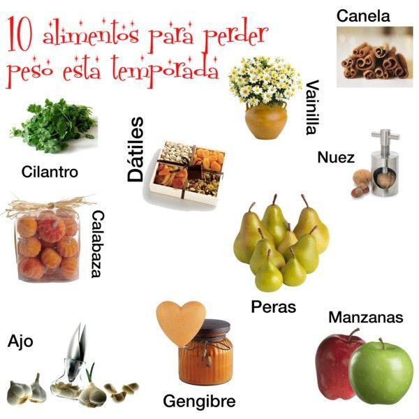 """""""10 alimentos para perder peso esta temporada"""" by www.mundorosa.com.mx"""