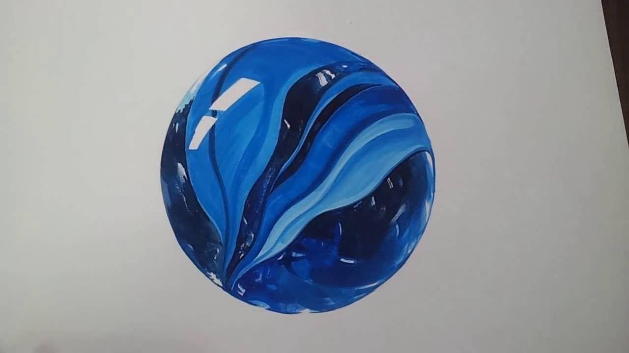 구슬 그리기 유리구슬 채색2/2 glass marbles drawing,painting
