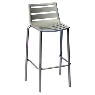 South Beach Stackable Outdoor Barstool Anium Silver By Bfm Seating