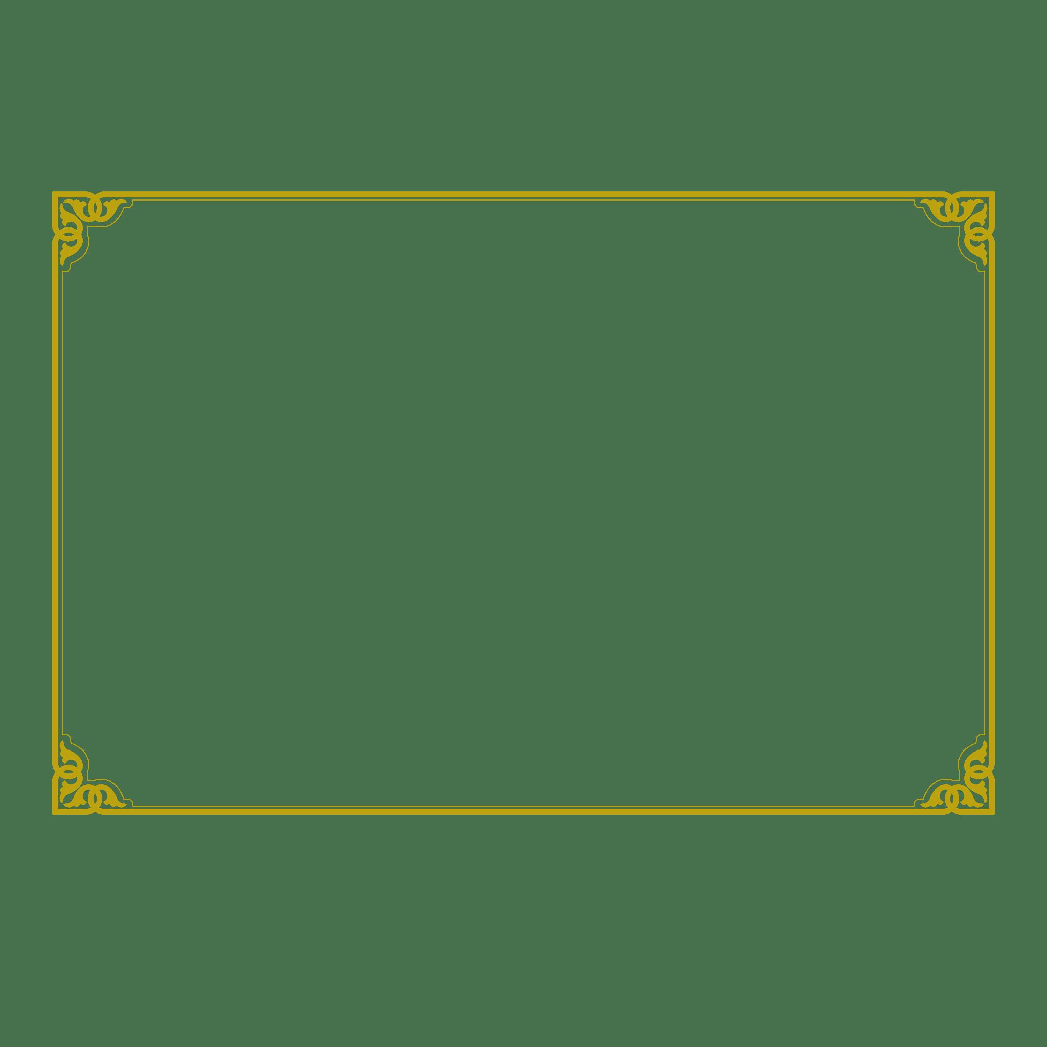 Rectangle Gold Golden Deco Border Transparent Png Clip Art Unlimited Download Kisspng Com Bingkai Desain Logo Desain