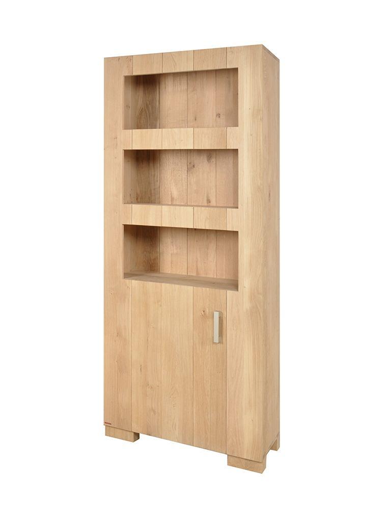 Massief Eiken Boekenkast Zilt Boekenkasten | van dijk meubelen ...