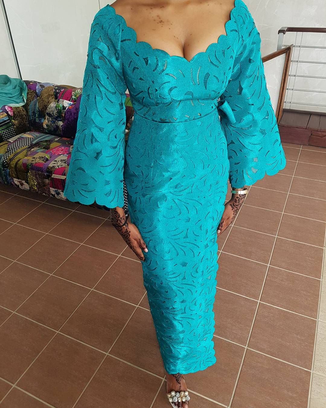 Teal #Komole Iro and Buba in #classicmotif for #deolabride Maryam ...
