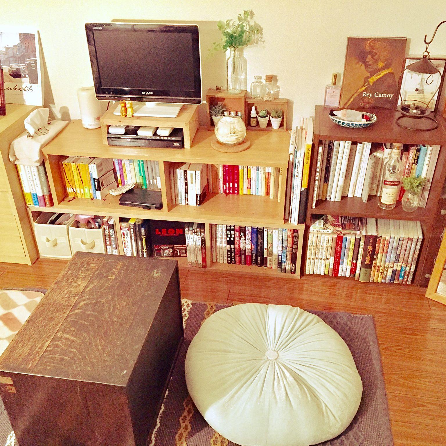 棚 本棚 一人暮らし ワンルーム 6畳のインテリア実例 2017 01 30 19 49 50 Roomclip ルームクリップ インテリア 寝室 インテリア 和室 アパートのインテリアデザイン