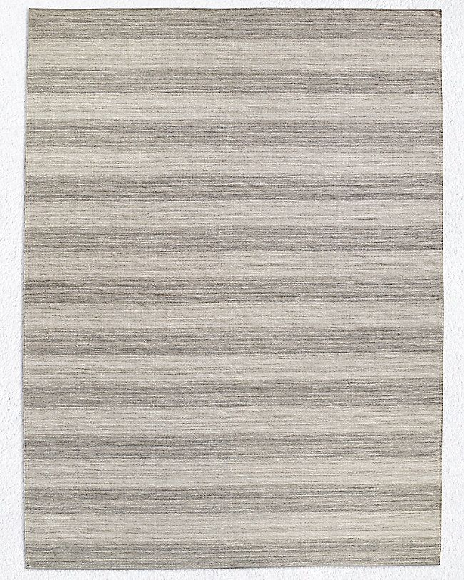Perennials Heathered Stripe Outdoor Rug Fog