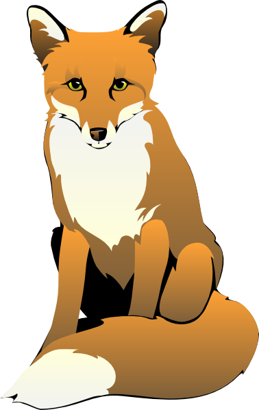 fox clip art black and white fox sitting clip art foxy fox rh pinterest com