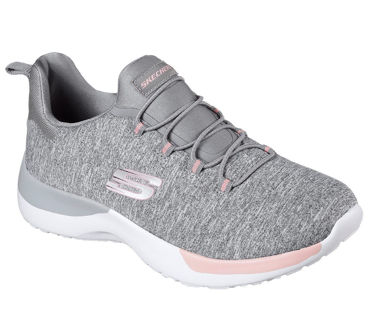 12991 Gray Pink Skechers shoes Memory Foam Women Slip On