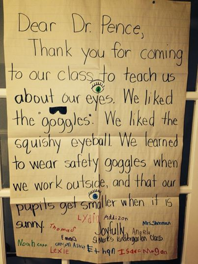 Awesome thank you note from a recent RealEyes school presentation