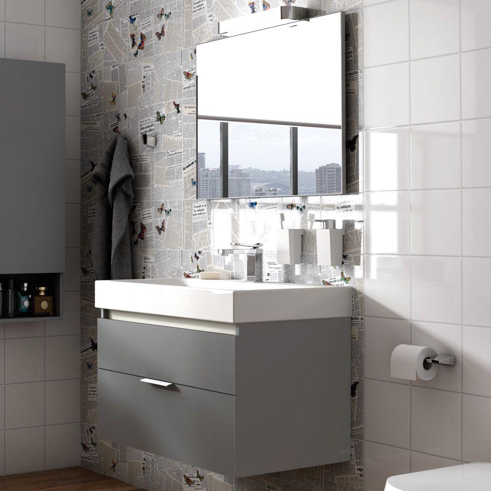 Mueble de baño de color grafito. | Muebles de baño ...