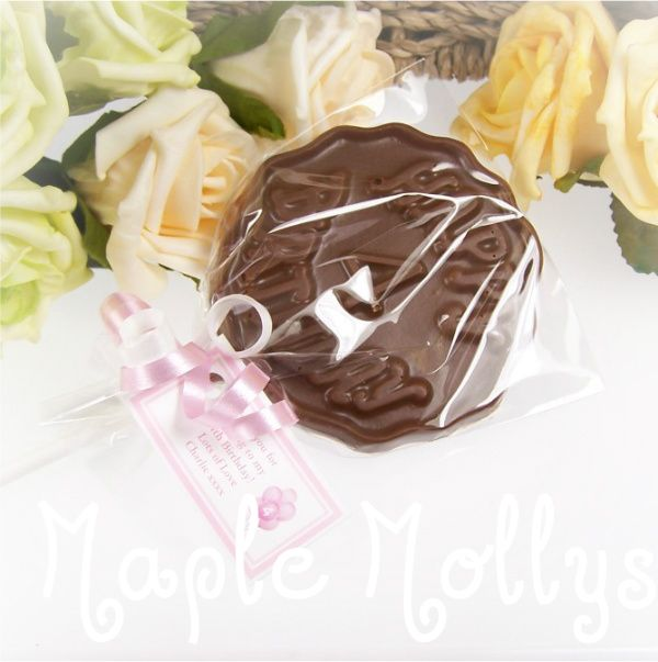 These personalised chocolate lollipops make a fantastic end-of-party gift for kids or grown ups - there are so many to choose from.  A really great touch and proved very popular!