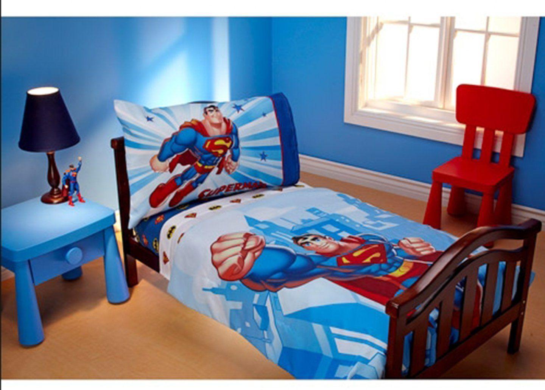 Amazon.com : DC Super Friends Reversible Batman Superman TODDLER ...