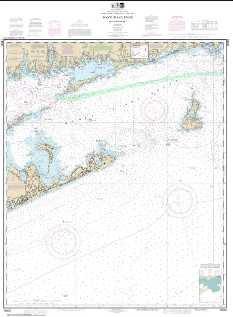 medium resolution of block island sound and approaches nautical chart 13205 by noaa