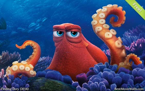 Hank In This Free Wallpaper From Findingdory Finding Dory Disney Finding Dory Disney Finding Nemo