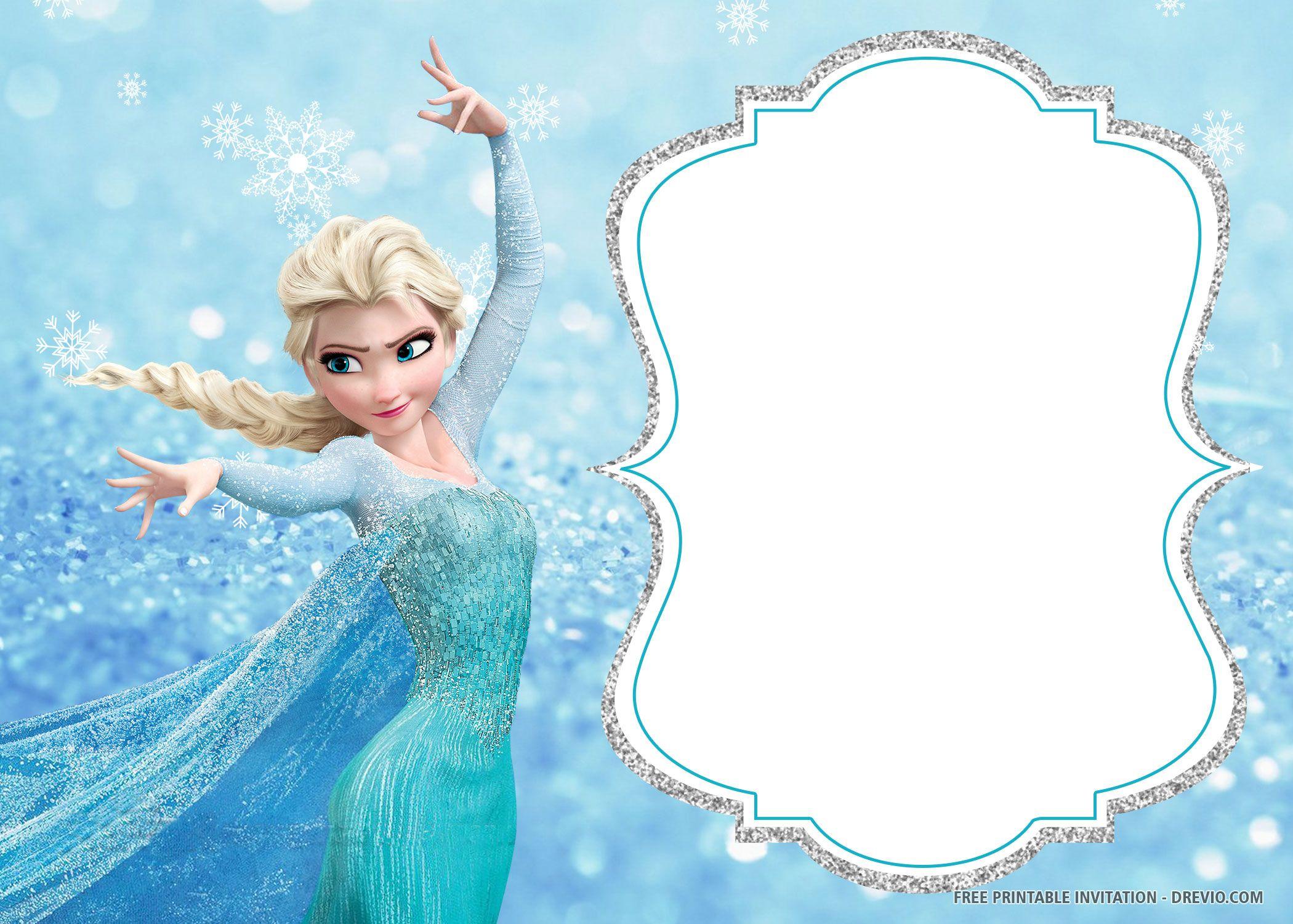 Free Printable Frozen Birthday Invitation Templates Frozen Birthday Invitations Frozen Invitations Frozen Birthday Cards