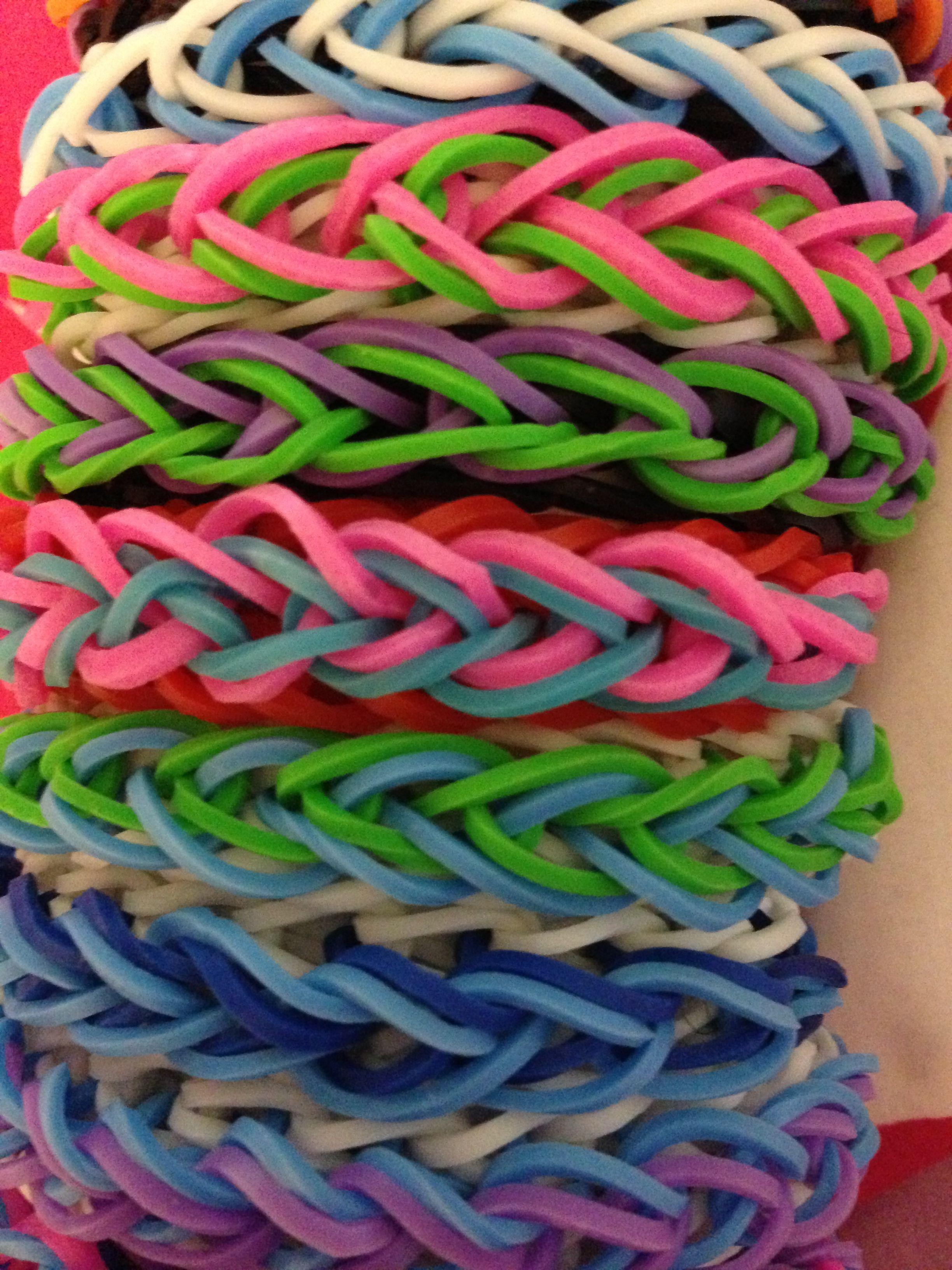 Color ideas for the tear drop bracelet. | Rainbow Loom | Pinterest ...