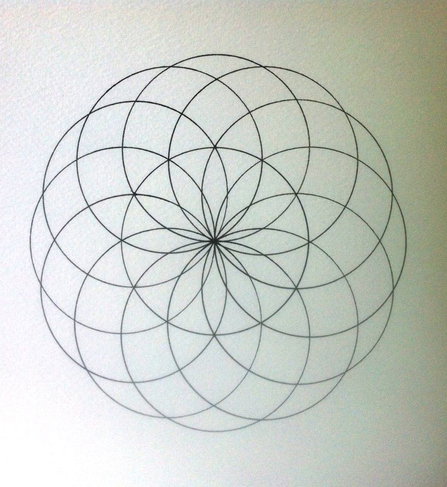 How to draw a torus yantra mandala | Drawing | Pinterest ...